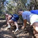 Girls-Climbing-Mount-Warning
