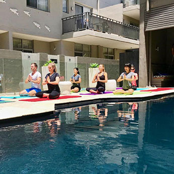 Poolside Yoga Byron Bay