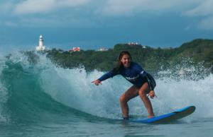 Surfing Byron Bay